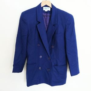 Christian Dior The Suit Blue 100% Wool Blazer 6